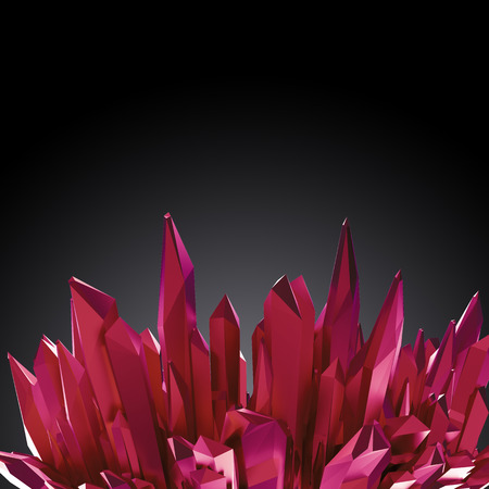 ruby: 3d ruby red crystals background, abstract creative wallpaper