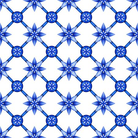 trellis: abstract floral seamless pattern, blue white gzhel trellis, lattice ornament