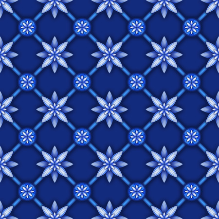 lattice: abstract floral seamless pattern, blue white gzhel trellis, lattice ornament