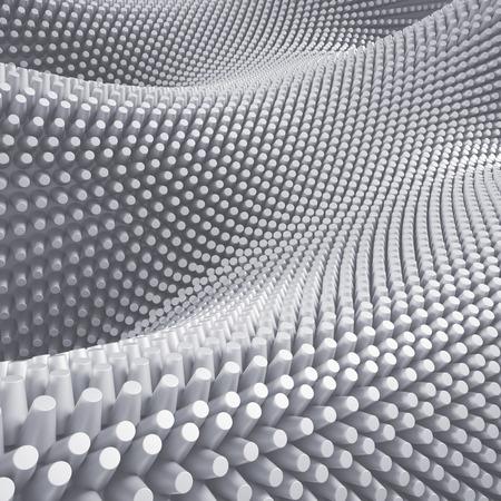 macro: 3d abstract white background, prickles, nap macro texture Stock Photo
