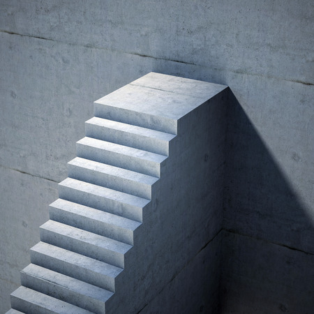 stone steps: stairs background, abstract 3d illustration Stock Photo