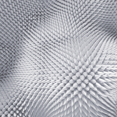 prickle: 3d abstract white background, sharp prickles, nap macro texture
