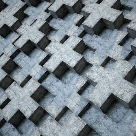 urban background: abstract urban concrete wall, 3d polygonal relief background