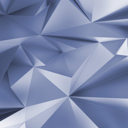 geometrical: 3d abstract crystal background, silver metallic wallpaper