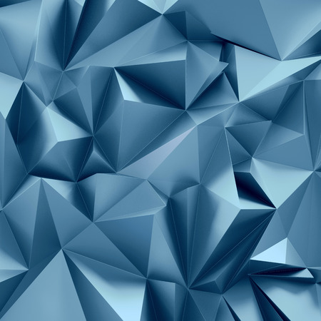 3d abstract crystal background, metallic geometrical wallpaper