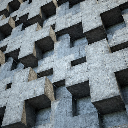 concrete background: abstract urban concrete wall, 3d polygonal relief background