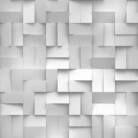 質地: 三維渲染,白色塊數字插畫,抽象的幾何背景,無縫紋理 版權商用圖片