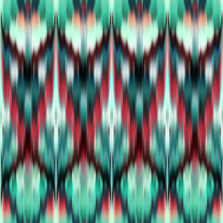 variegated: abstract ethnic seamless pattern, ikat ornament, red green modern fabric, geometric aztec background