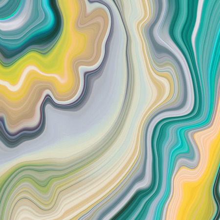 abstract marbled background, decorative agate texture, liquid marbling, creative painted wallpaper, green and yellow wavy lines Stock Photo