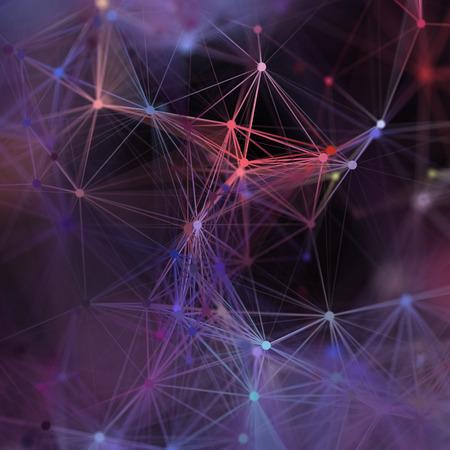 plexus: 3d render, abstract background, plexus, constellation, nebula, neuron network