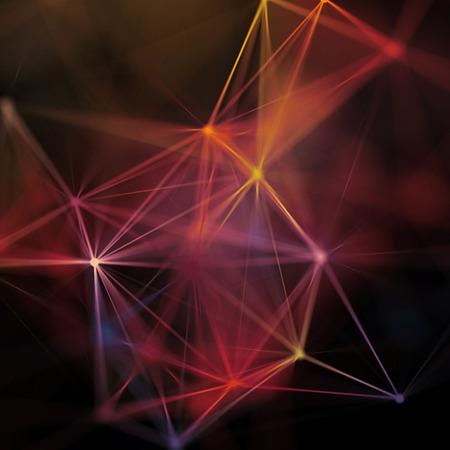 3d, resumen de antecedentes, el plexo, constelación, nebulosa, la red neuronal Foto de archivo