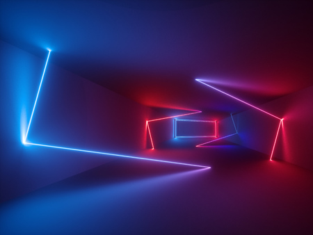 3d rendering, glowing lines, neon lights, abstract psychedelic background, ultraviolet, vibrant colors