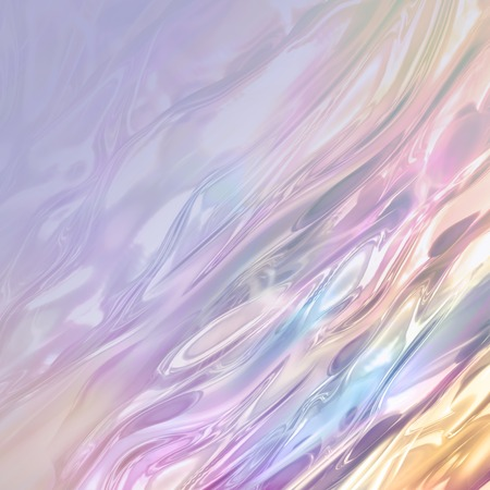 3d render, abstract liquid background, pastel holographic foil, light metallic texture, reflection, iridescent, pale spectrum. For creative projects: book cover, fashion print, gift card, web texture