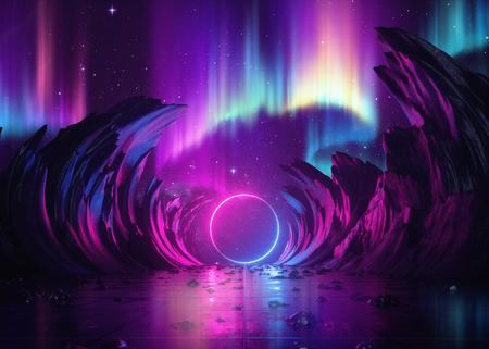 Lumières d'éclairage colorées Banque d'images