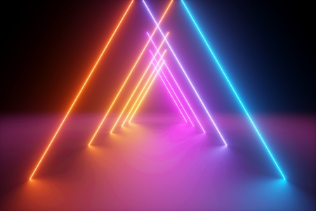 Colorful illumination geometric