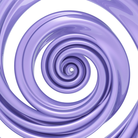 3d render, twisted spiral, violet candy cane, pastel color swirl, whirlpool, helix, abstract background