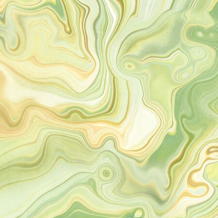 abstract background, fashion fake stone texture, green onyx jade agate or marble slab with wavy lines, painted artificial marbled surface, artistic marbling illustration
