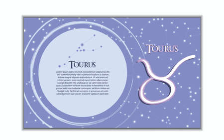 Horizontal banner of 12 zodiac. Vector illustration of the horoscope of the constellation. Template for postcard, brochure, page, booklet.