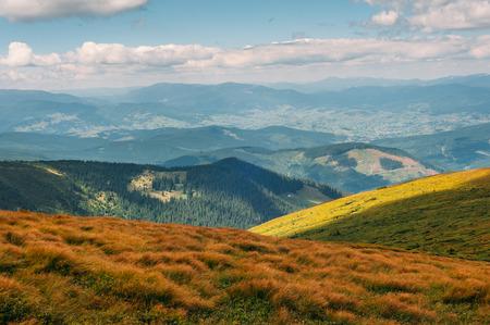 Carpathian mountains in summer, Ukraine