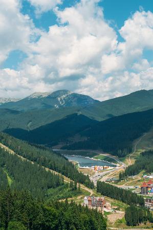 Carpathian mountains in summer. Bukovel, Ukraine. August, 2016. Stock Photo