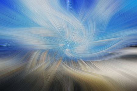 Fine art abstract background. Blue and white pattern.
