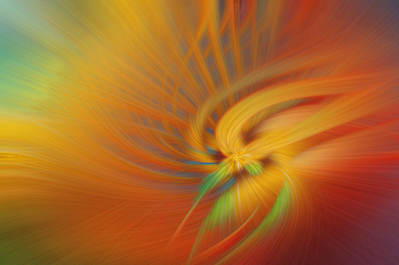 Fine art abstract background. Red and orange bright fantasy light pattern.