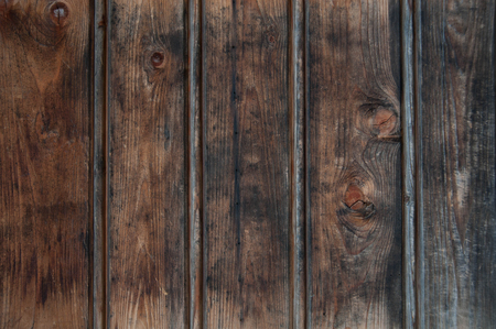Old dark brown wooden dirty planks texture for background