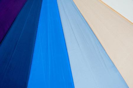 Texture of rainbow Umbrella fragment for background Stock Photo