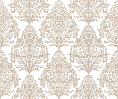 paper old: Seamless vintage background. Wallpaper baroque pattern, for textile design. Elegant linear style floral ornament, isolated.