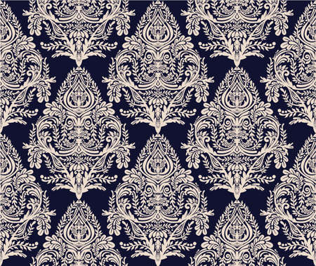 dise�o textil: Seamless vintage background. Wallpaper baroque pattern, for textile design. Elegant linear style floral ornament, isolated.