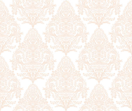 beige background: Seamless vintage background. Wallpaper baroque pattern, for textile design. Elegant linear style floral ornament, isolated.