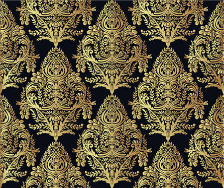 victorian pattern: Seamless vintage background. Wallpaper baroque pattern, for textile design. Elegant linear style floral ornament, isolated.