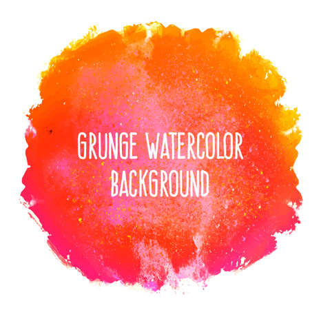 grunge shape: Abstract artistic beautiful and elegant colorful bright vector watercolor spot hand painted background. Text template. Grunge spring summer colors. Fashion trend hues.