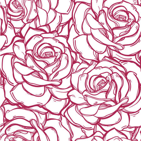 vintage floral pattern: Seamless elegant vintage floral pattern background of rose or peony flowers, summer berries. Isolated vector illustration. Fabrics, textiles, paper, wallpaper. Retro hand drawn ornament. Vintage style Illustration