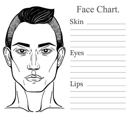 Face chart make up artist blank vector illustration handsome face chart make up artist blank vector illustration handsome royalty free cliparts vectors and stock illustration image 48056414 pronofoot35fo Gallery