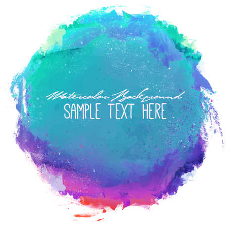 Abstract artistic elegant classic vector watercolor spot hand painted background. Copy text template. Spring summer colors. . Isolated. Grunge texture. Artist collection.