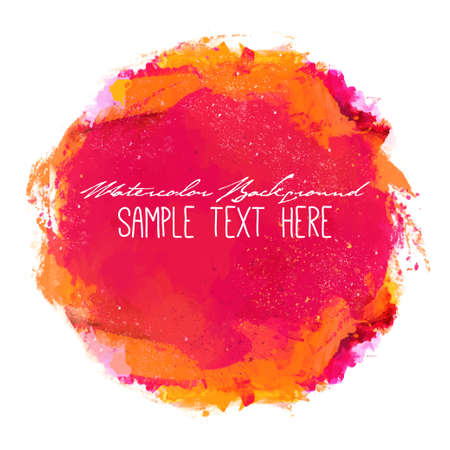 painted background: Abstract artistic elegant classic vector watercolor spot hand painted background. Copy text template. Spring summer colors. . Isolated. Grunge texture. Artist collection.