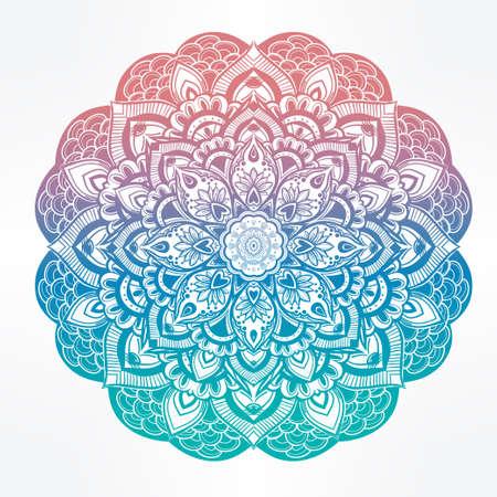 verschnörkelt: Hand gezeichnet kunstvollen Paisley-Blumenmandala. Ideal ethnischer Herkunft, Tattoo-Kunst, Yoga und Textilien.