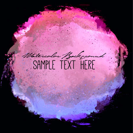 copy text: Abstract artistic elegant classic vector watercolor spot hand painted background. Copy text template. Spring summer colors. . Isolated. Grunge texture. Artist collection.