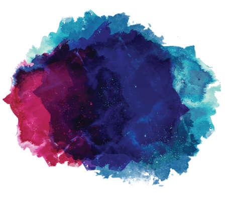 抽象的な: 抽象的な芸術的なエレガントな古典的なベクトル水彩スポット手塗られた背景です。コピーするテキスト テンプレート。春夏色。.分離されました。グランジ テク  イラスト・ベクター素材