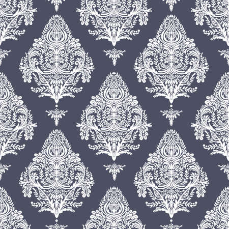 baroque: Seamless vintage vector background. Wallpaper baroque pattern, for interior and textile design. Elegant linear style floral ornament, isolated. Illustration