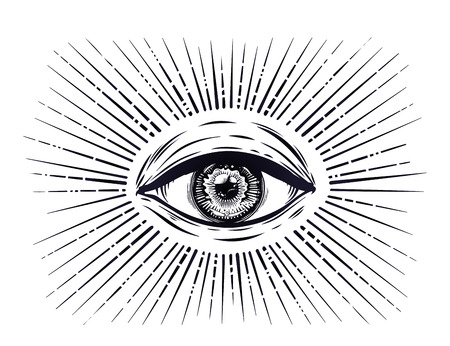 All seeing eye symbol. Eye of Providence.  イラスト・ベクター素材