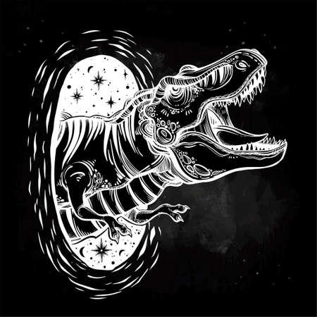 Tyrannosaurus Dinosaur Vector Illustration.