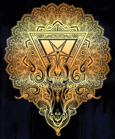 138 Symbol Of Baphomet Stock Vector Illustration And Royalty