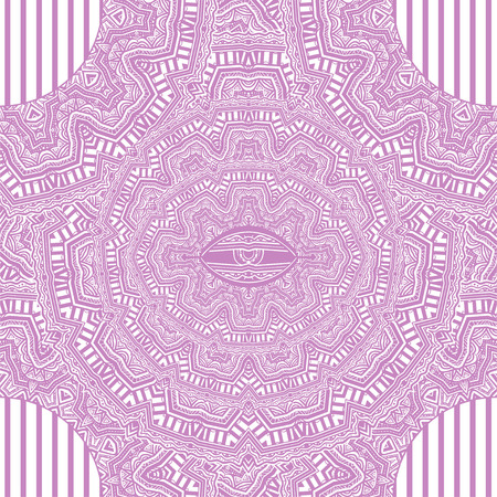 African geometric folklore ornament with magic eye. Stock Photo