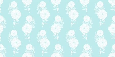 Naive flower with buds seamless pattern. Decorative summer background for fabric. Stockfoto - 128182231