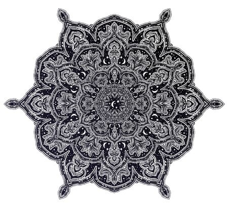 Sacred geometry mindfulness mandala with stars and moon ornament. Stockfoto - 128532373