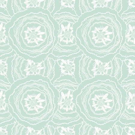 Naive rose flower seamless pattern. Decorative summer background for fabric. . Stockfoto - 128532520