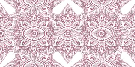 Decorative magic eye of providence in a flower seamless pattern. 版權商用圖片 - 128533739