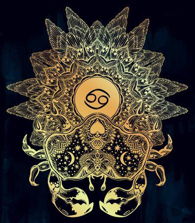 Horoscope cancer zodiac sign.